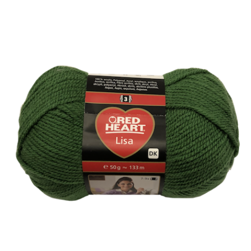 Gomitolo Lana Red Heart Lisa 50g 133m Verde Scuro n°5689