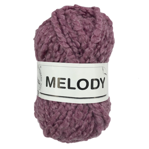 Gomitolo Lana Melody 100g Rosa Scuro Melange n°30