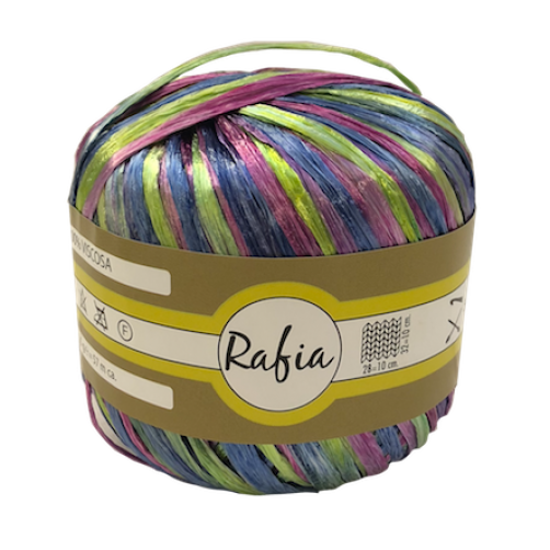 Rafia 100% Viscosa Mix Multicolor N°3510