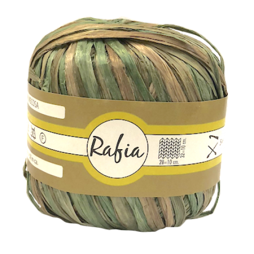 Rafia 100% Viscosa Mix Verde/Marrone N°3120