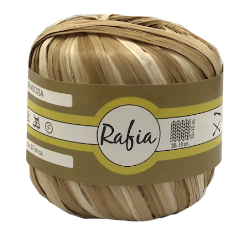 Rafia 100% Viscosa Mix Sabbia N°335
