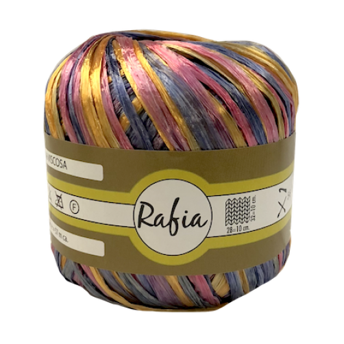 Rafia 100% Viscosa Mix Multicolor N°3220