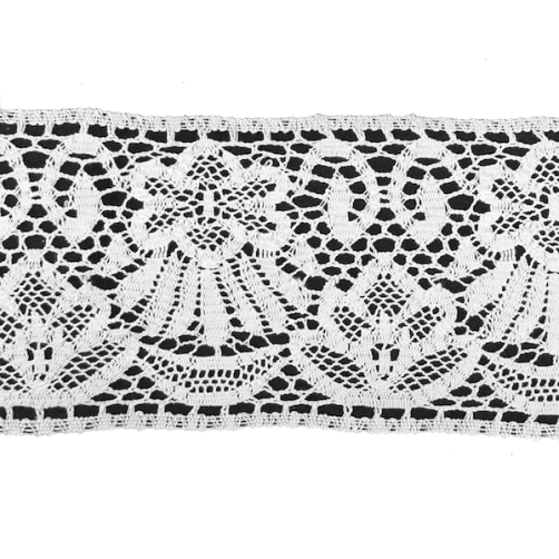 Merletto Tombolo in Pizzo 100%Cotone h120cm n°7002 Bianco